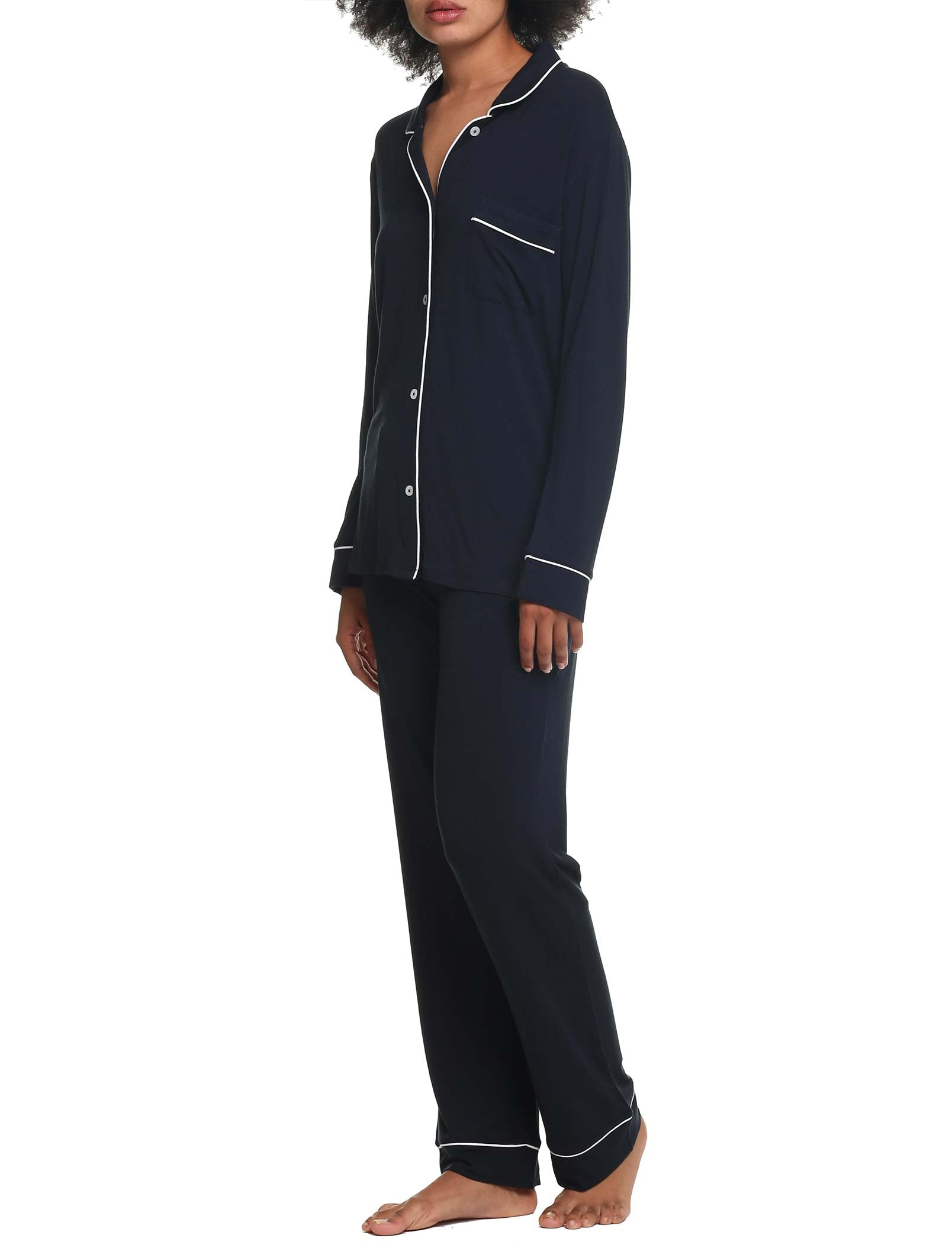 Modal Soft Kate Full Length PJ in Black