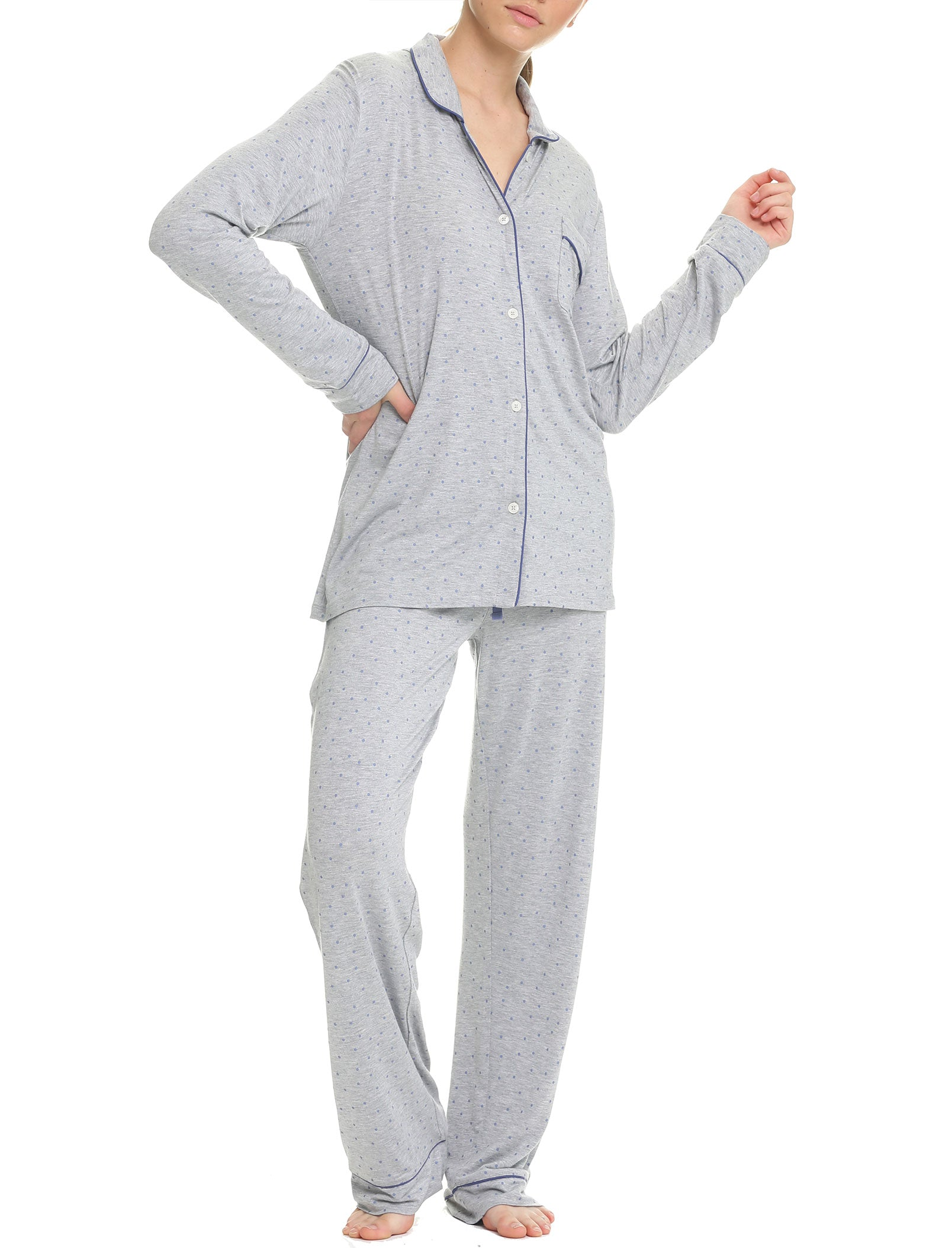 Indigo Spot Modal Soft Kate Pajama Set