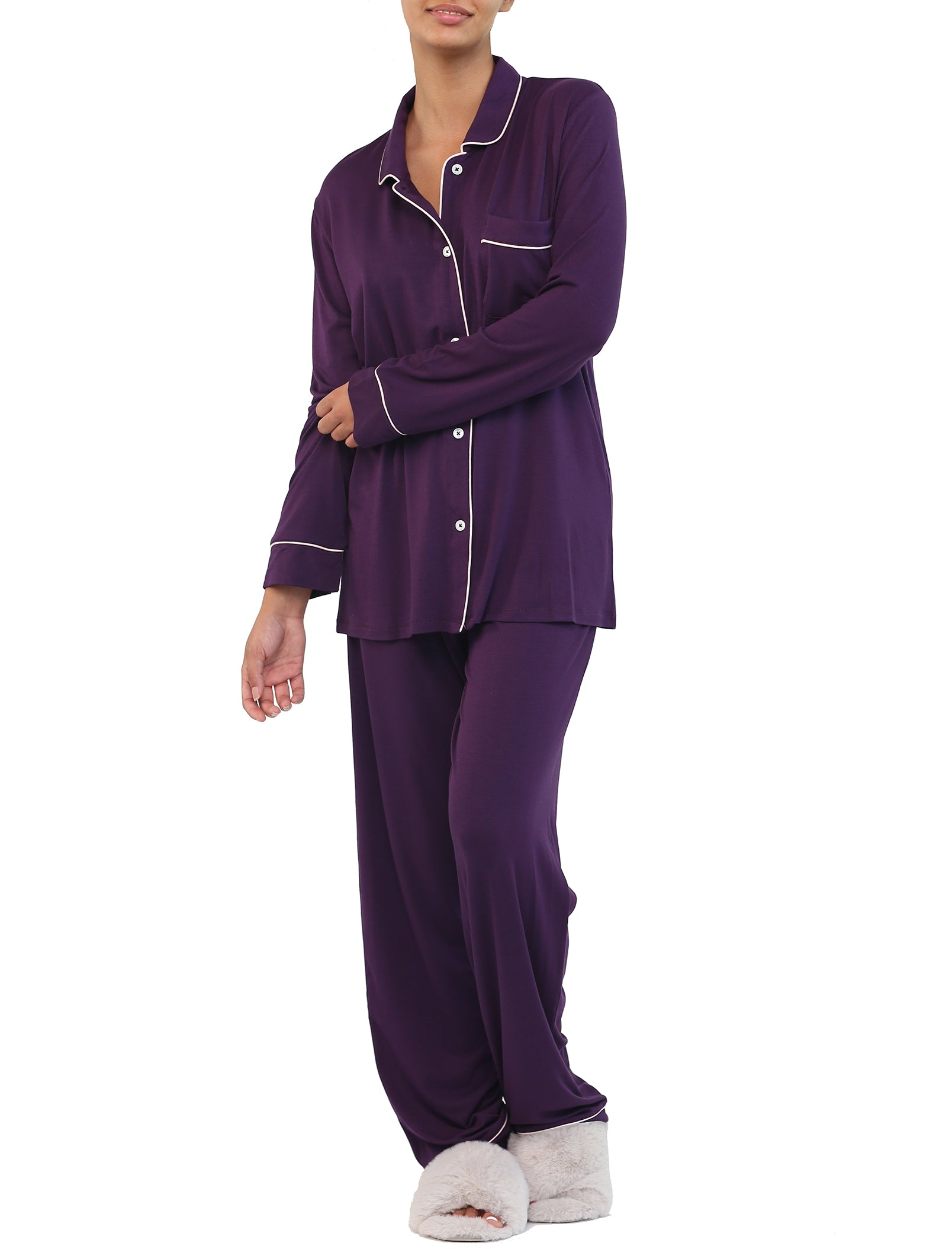 Modal Kate PJ in Prune
