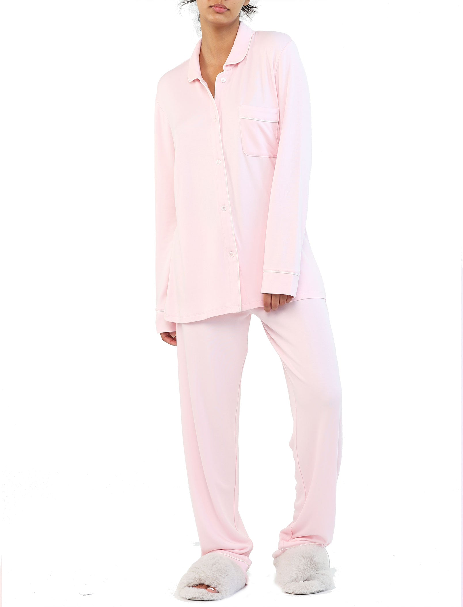 Cozy Kate Pajama Set in Rose
