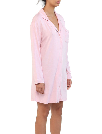 Modal Soft Kate Nightshirt in Ruby Melange