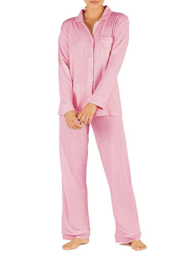 Modal Jersey Piped Pajamas in Berry