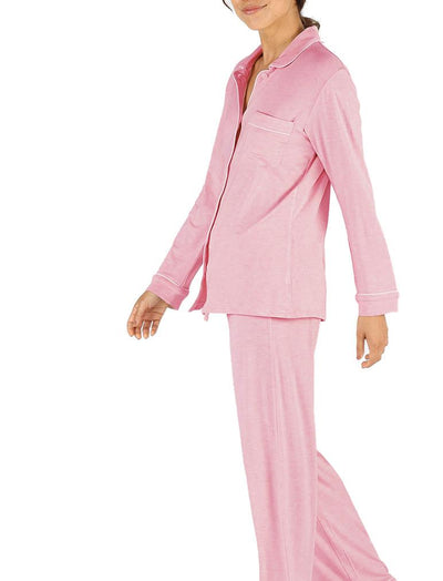 Modal Jersey Comfy Pajamas in Berry, Side