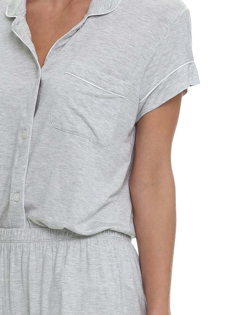 Modal Kate Boxer PJ Set in Grey