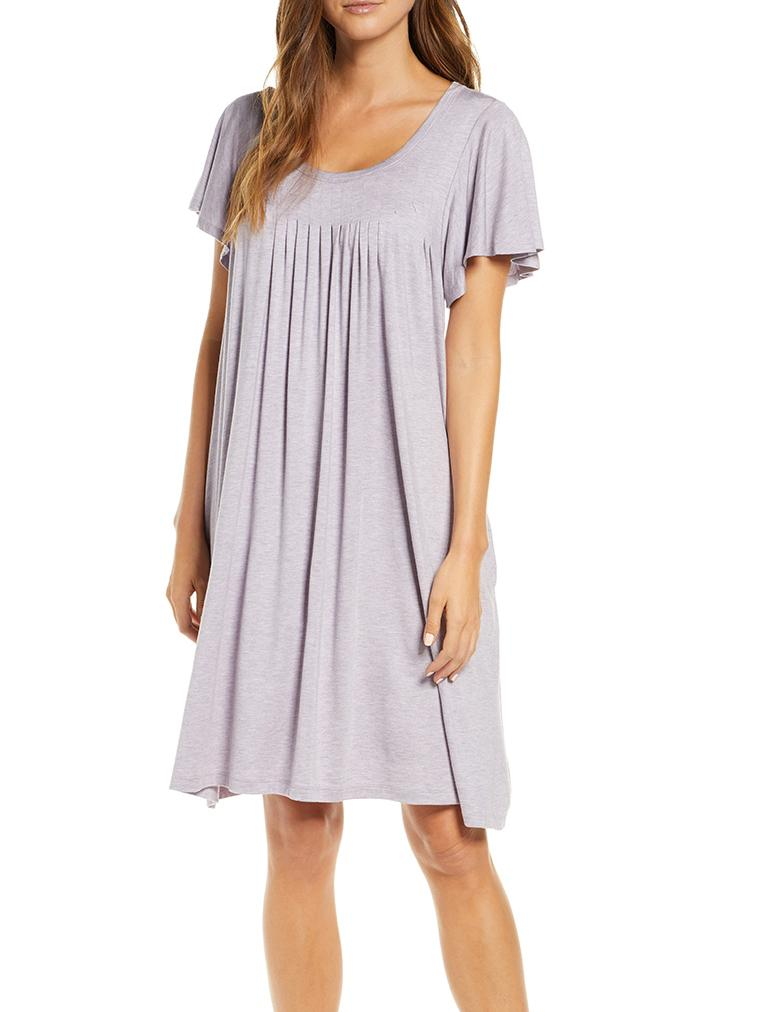 Modal Soft Flutter Nightgown in Lilac