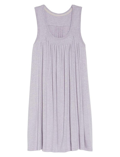 Modal Soft Pleat Front Nightgown, Lilac