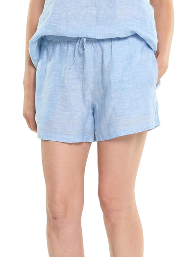 Resort Linen Boxer in Vintage Blue
