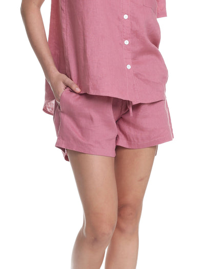 Resort Linen Boxer in Dusty Pink