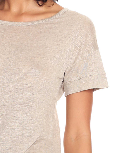 Resort Linen Tee in Natural