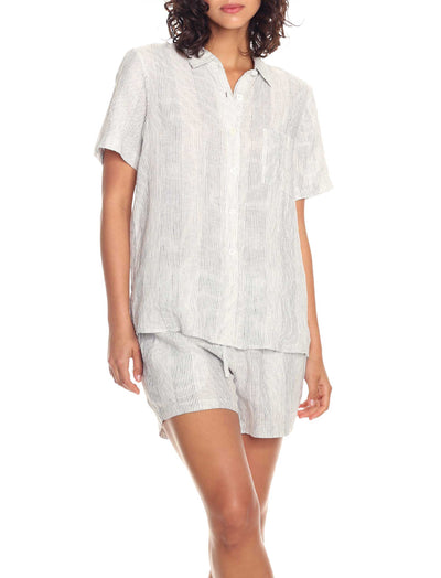 Resort Linen Stripe Shirt