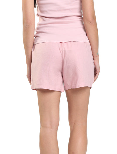 Resort Linen Boxer in Powder Pink