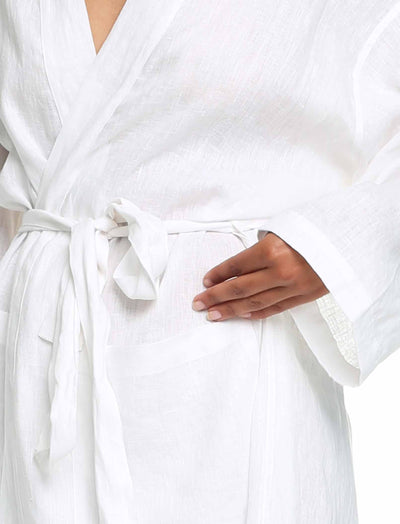 Pure Linen Robe Close