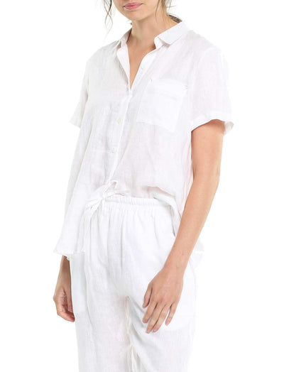 Resort Linen Shirt in White