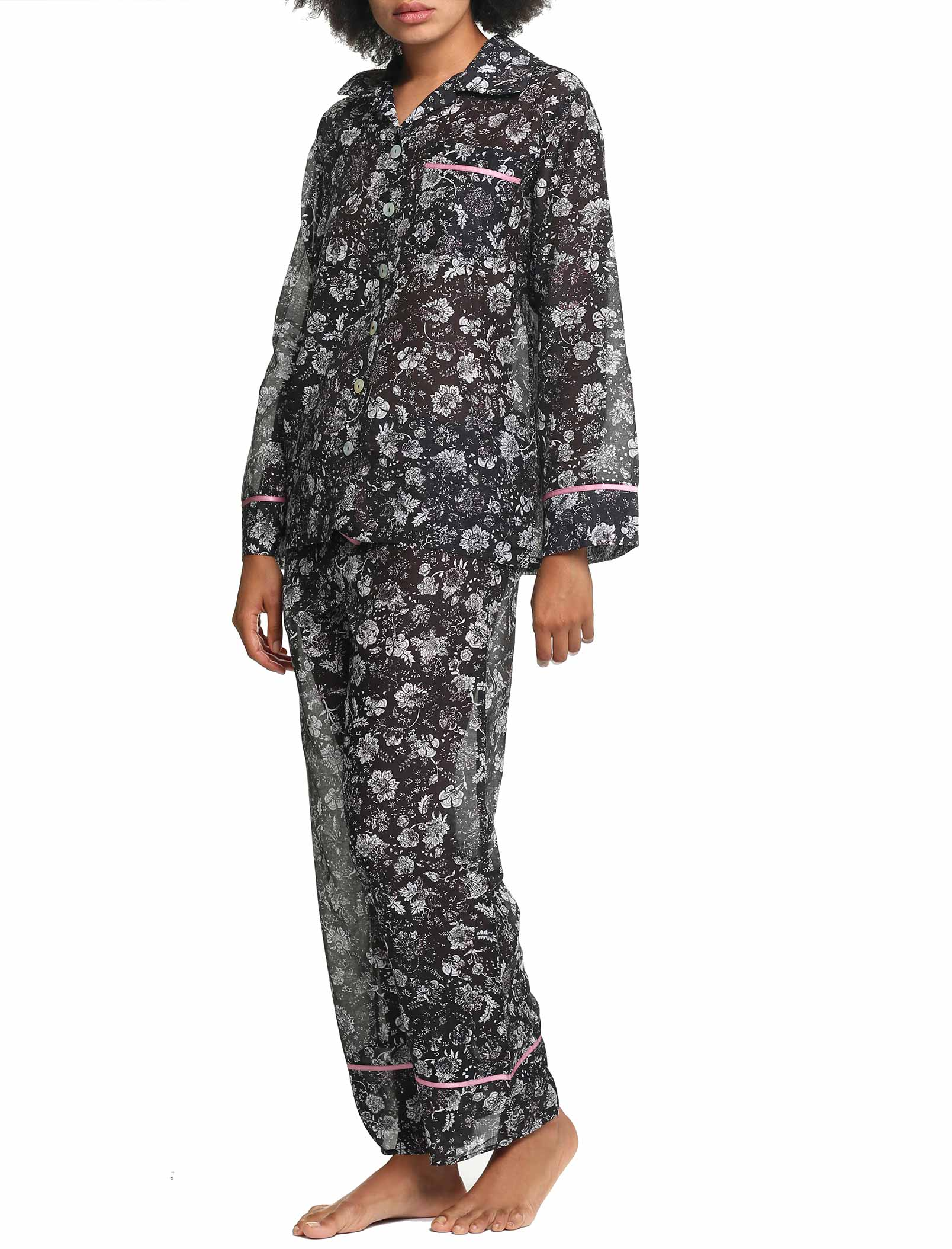 Louis Dark Full Length Pajama set