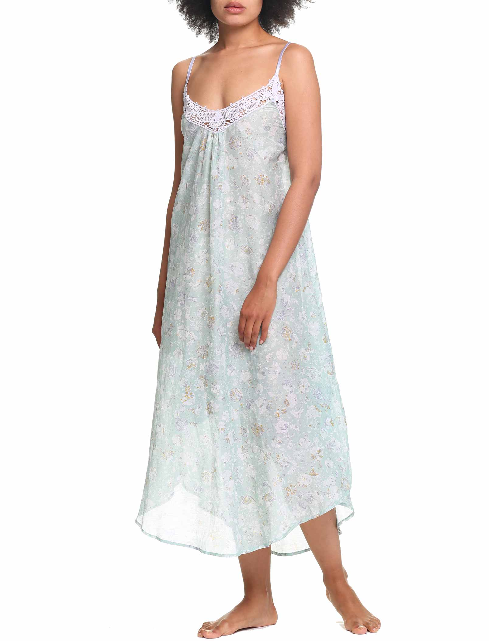 Louis Mint Maxi Nightgown