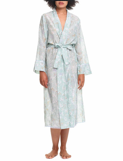 Louis Mint Cotton & Silk Robe