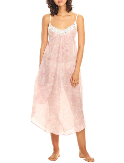 Louis Pink Maxi Nightgown