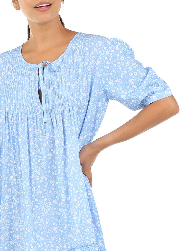 Mathilda Blue Pintuck Nightgown