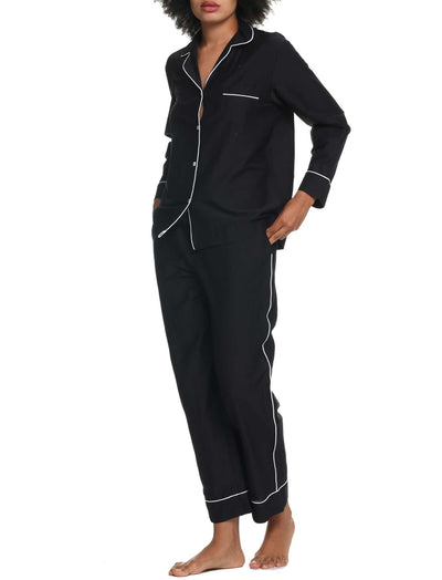 Mia Black Luxury  Silk Cotton Pajamas