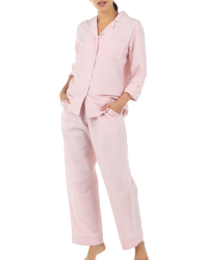 Mia Pink Cotton Silk Pajamas