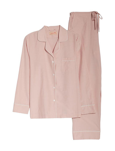 Mia Luxe Cotton Silk PJ Set in Pink