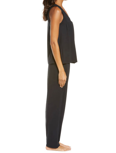 Modal Pleat Front Cami Pajamas in Black