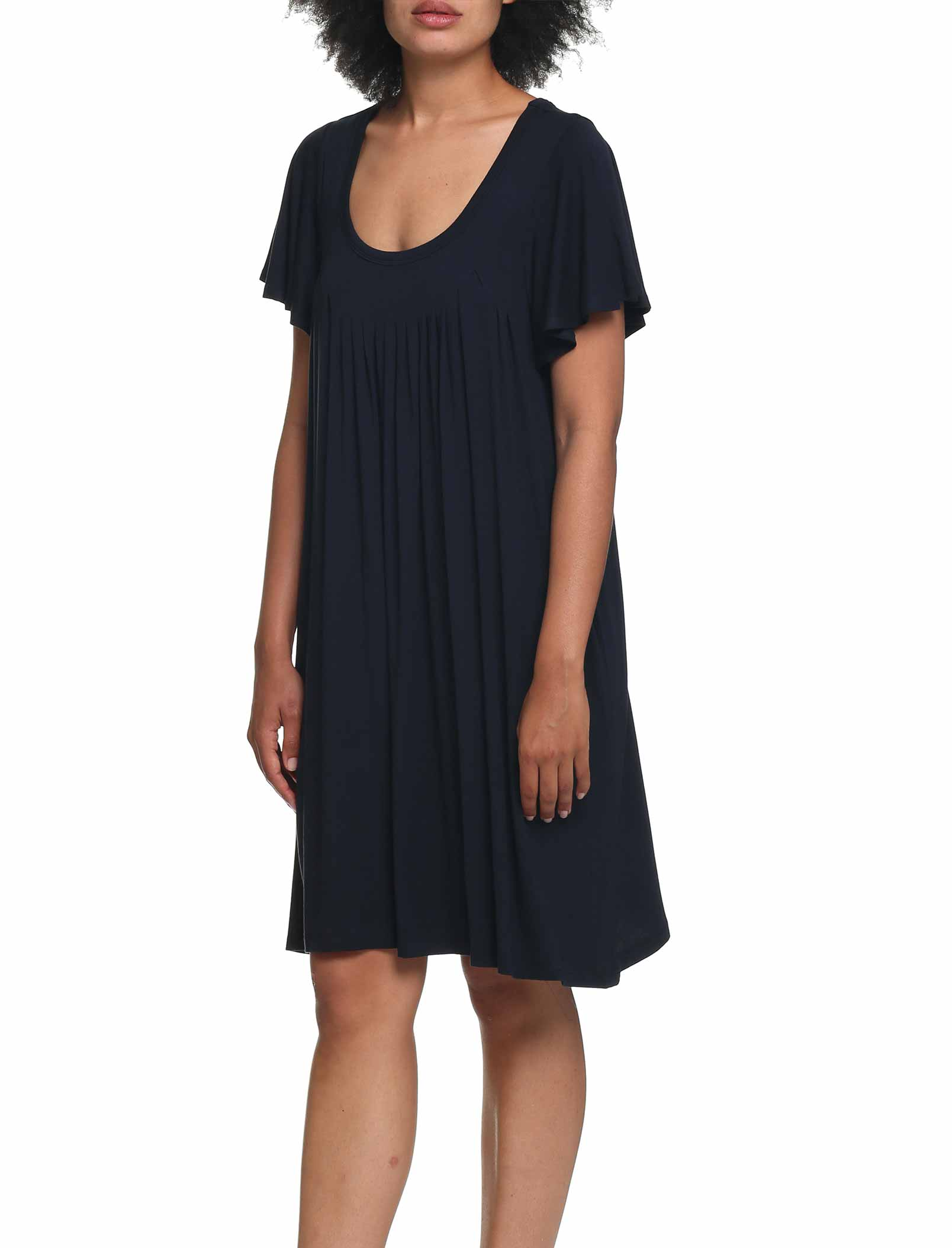 Modal Soft Flutter Nightgown in Black