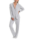 Modal Jersey Stripe Pajamas Grey