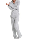 Modal Jersey Luxury Stripe Pajamas Grey