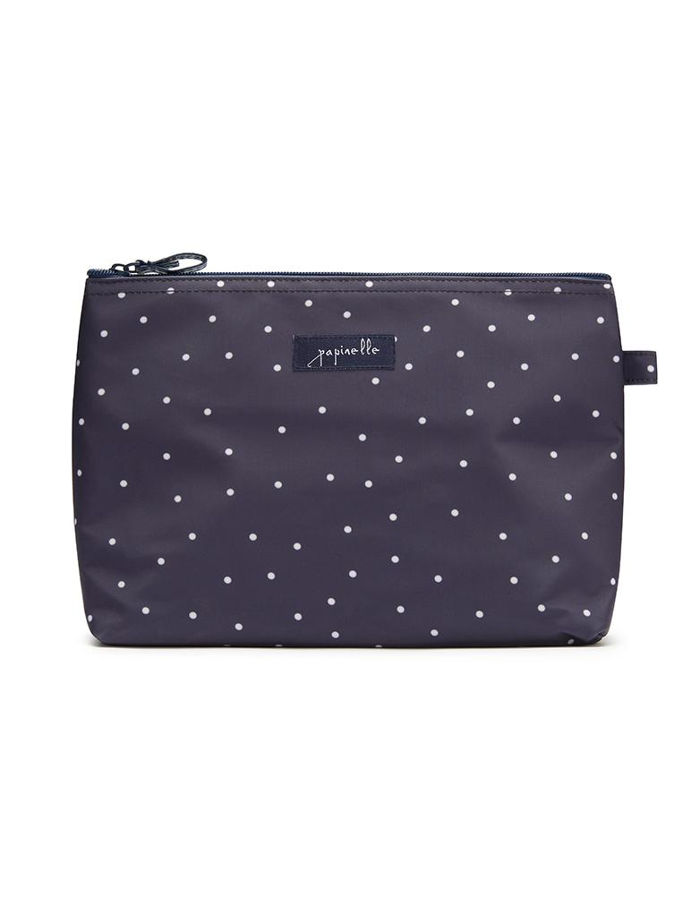 Navy Spot Medium Cosmetic Bag