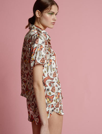 Karen Walker Silk Animal Magic Boxer PJ