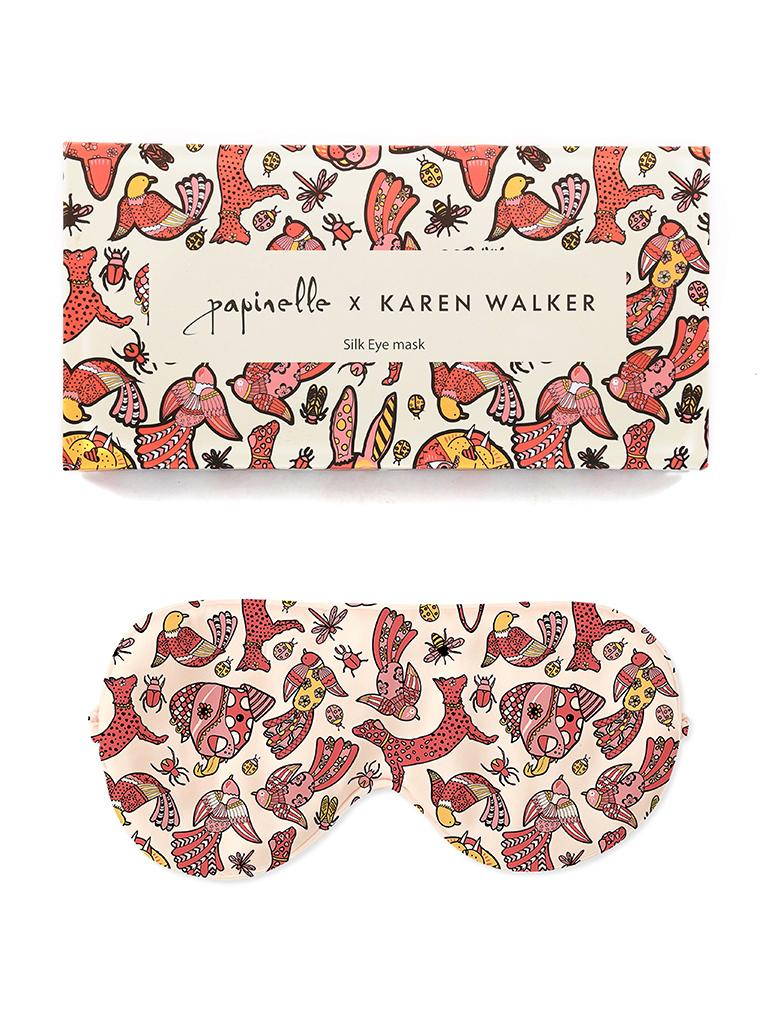 Karen Walker Animal Magic Boxed Silk Sleep Mask