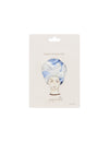 Turban Shower Cap in Dahlia Blue/Pixie Peach