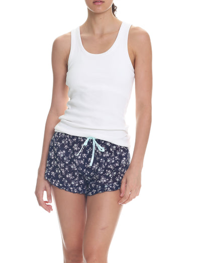 Potager Navy Frilled Boxer Shorts