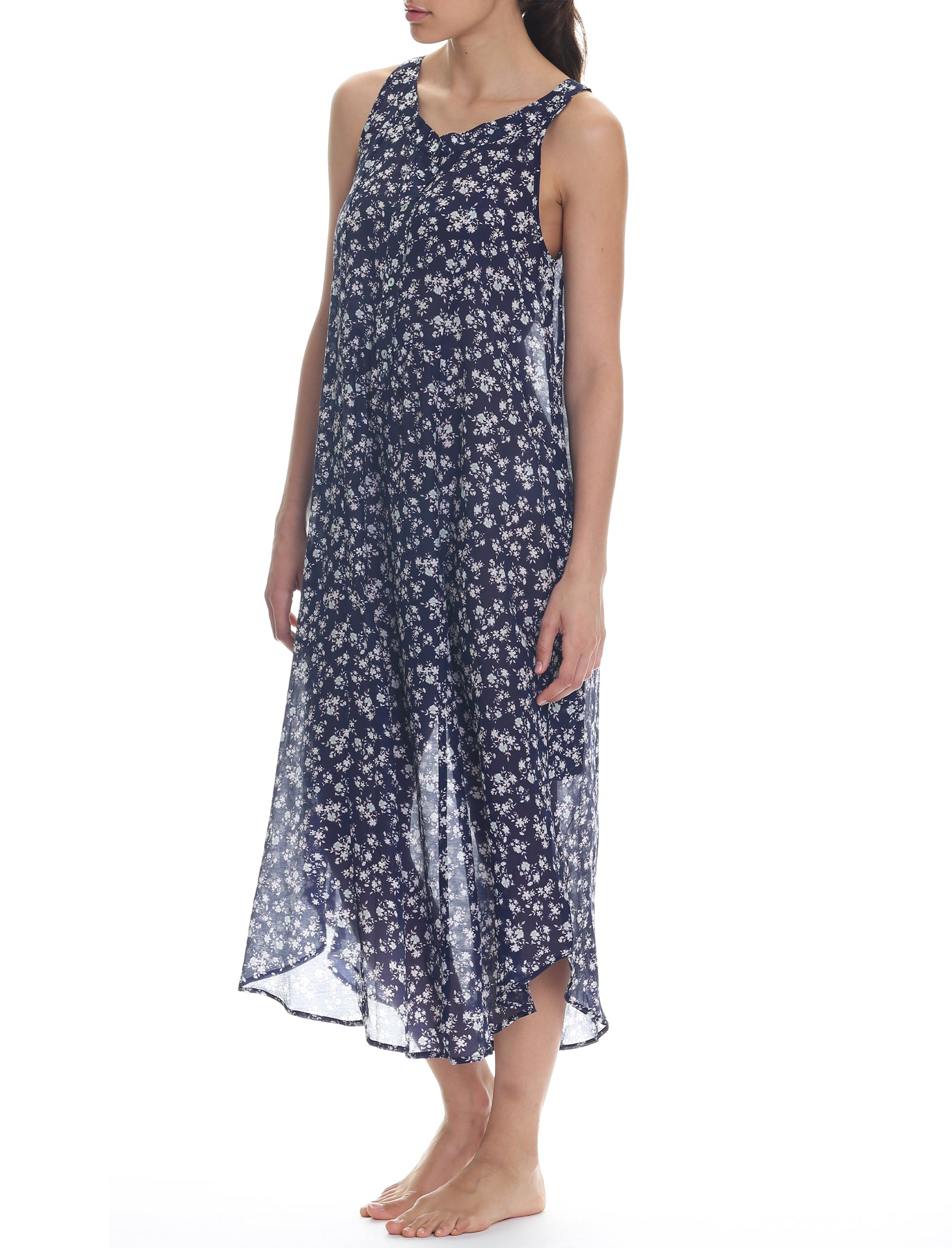 Potager Navy Maxi Panel Nightgown