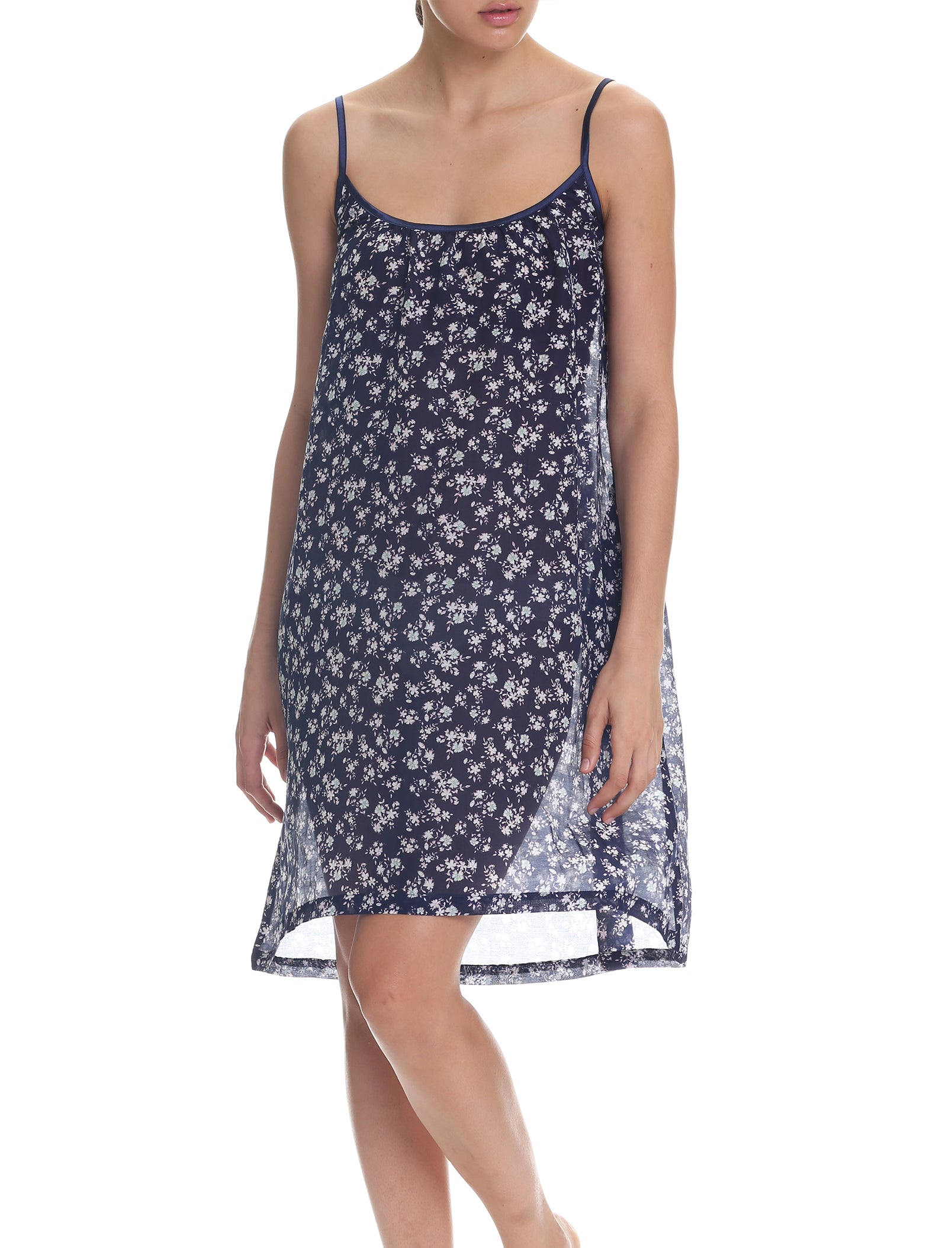 Potager Navy Strappy Nightgown
