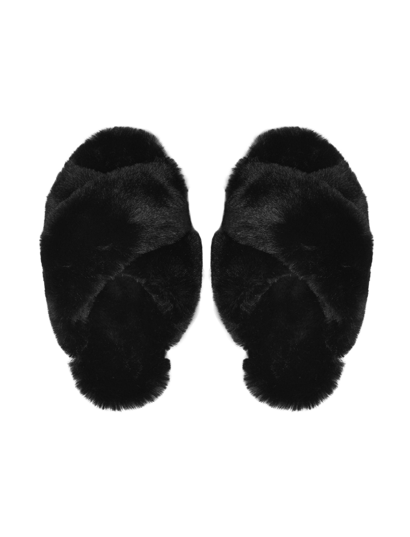 Sheepy Crossover Slides in Black