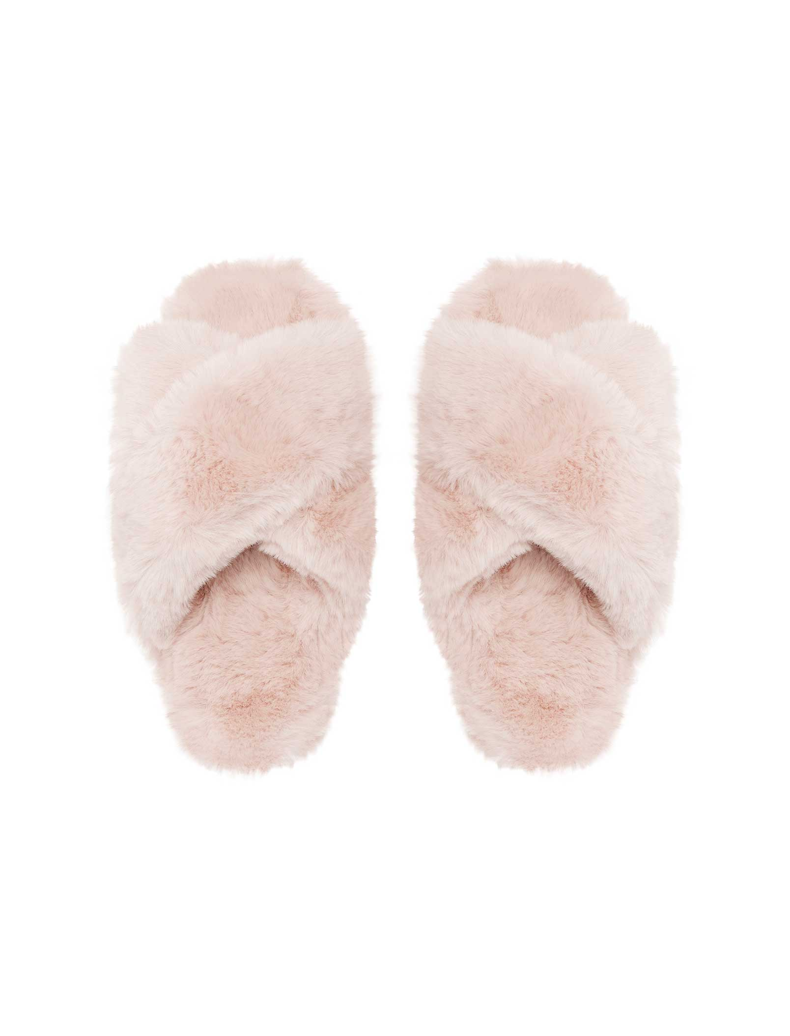 Sheepy Crossover Slides in Pink