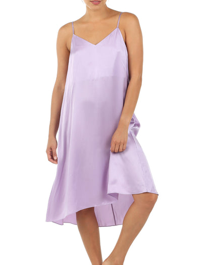 Washable Silk Slip Nightgown in Lilac