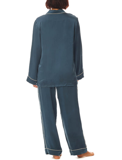 Papinelle Silk Pajama Midnight  Blue Back