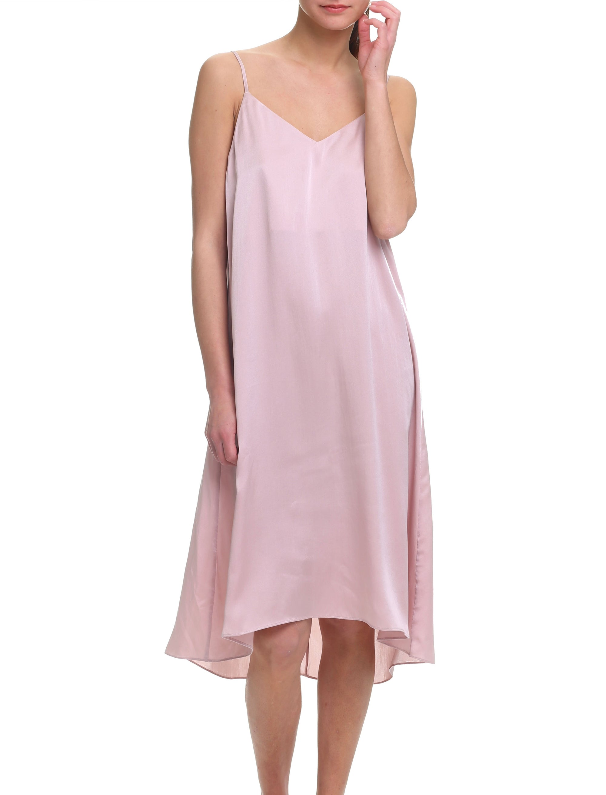 Washable Silk Slip Nightgown in Musk