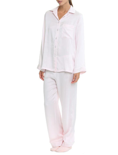 Soft Pink Silk Pyjamas