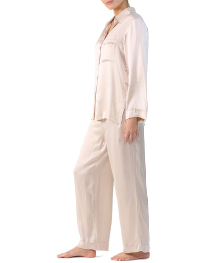 Washable Silk Pajama Set in Romance