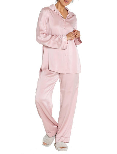 Pure Silk Pajamas in Musk