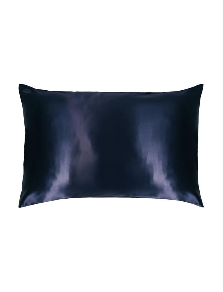 Boxed Silk Pillow Slip in Navy