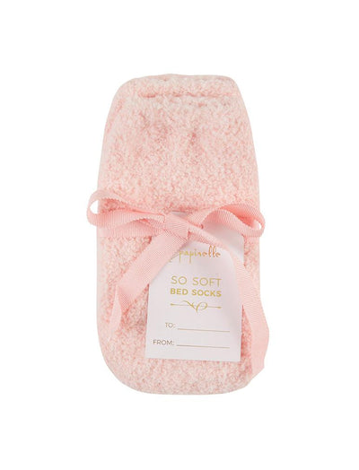 So Soft Bed Socks in Pink