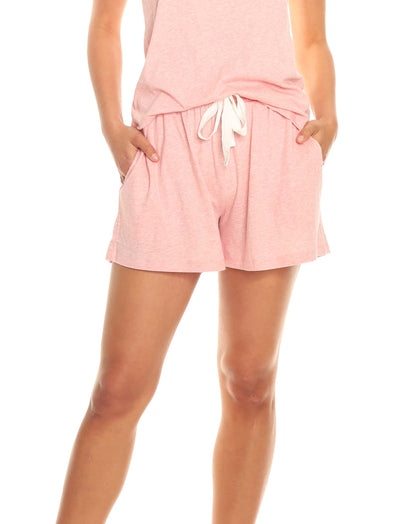 Organic Knit Boxer in Peony Pink