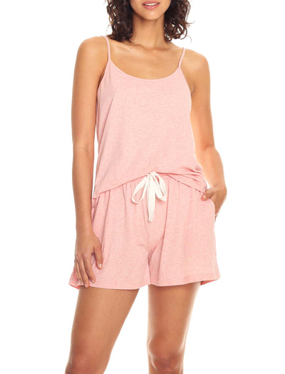 Organic Cotton Knit Cami in Peony Pink