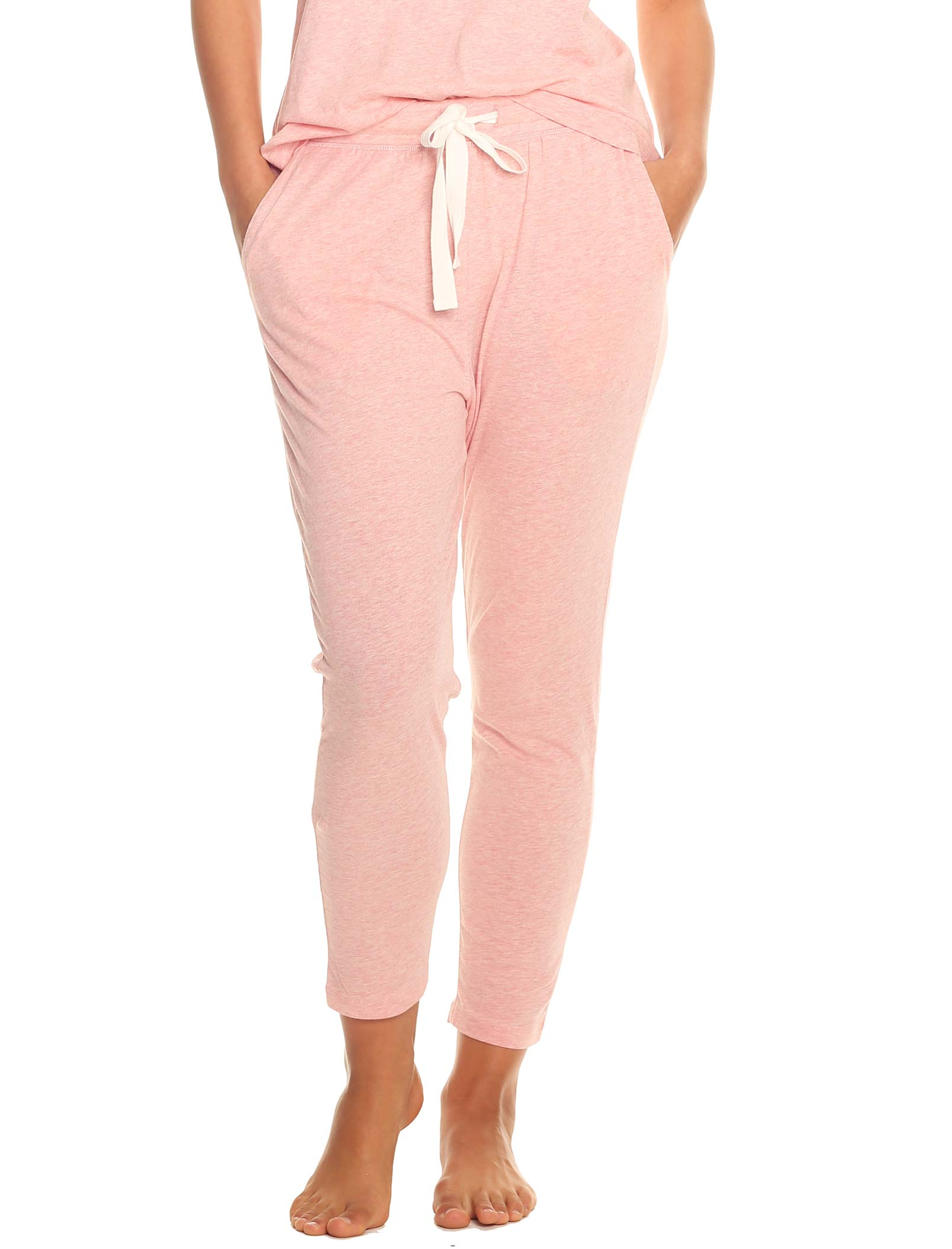 Organic Knit Pant in Peony Pink