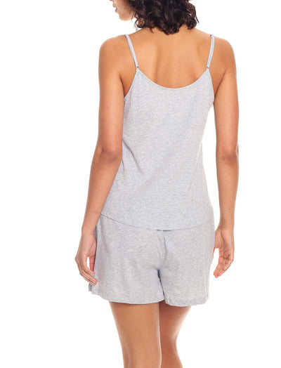 Organic Cotton Knit Cami in Grey Marl